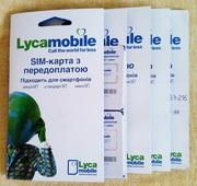 Lycamobile. Lyca mobile. Новый стартовый пакет. На счету 0 грн.